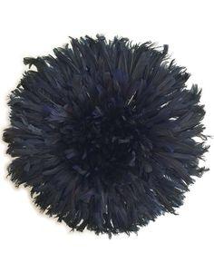 Bamileke Feather Juju Hat (French Navy) MEDIUM LAST ONE