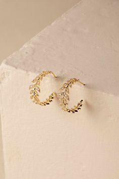 Antonia Earrings from Jewelry Design Earrings, Gold Earrings Designs, Ear Jewelry, Cute Jewelry, Jewelry Accessories, Bride Accessories, Jewlery, Gold Jewelry Simple, Stylish Jewelry