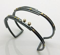 This year's update on the Twig cuff:  dressed up with 18k gold dots and two diamonds  (.15 tcw).  www.sydneylynch.com