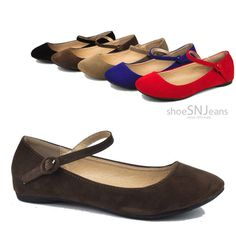 Women Mary Janes Flats Ballerina Strap Buckle Round ToeSlip On Shoes Bonnibel