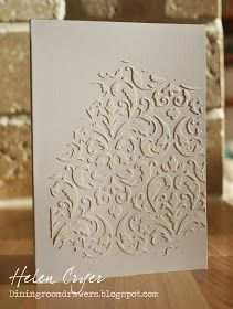 How to Make and Apply Texture Paste - using cornstarch, glue and paint. The paste is applied to your project over a stencil