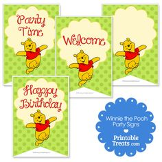 Printable Winnie the Pooh Signs from PrintableTreats.com