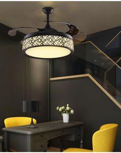 Stealth Ceiling Pendant Fan Light Simple Modern Bedroom Living Room Dining