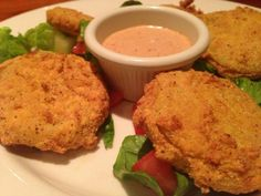 Fried Green Tomatoes at Boure Restaurant, Oxford Mississippi #oxford #mississippi #usa #travel #restaurant #food