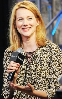 Hey, girl! Laura Linney promoted her new movie, Genius, at AOL in NYC on June 6.