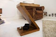 Luxusný nábytok REACTION: Stolík z masívneho dreva
