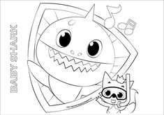 Baby Shark Song 10 Coloring Pages, Super Simple Coloring ...