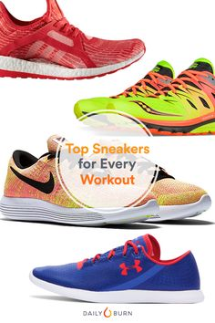 Show your feet some love with sneakers that can withstand even the toughest workouts. Here, top shoes for race training, trail running, CrossFit and more. via @dailyburn