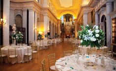 The Long Library, Blenheim Palace Weddings with Pure White Wedding Company