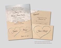 Love this popular beach-themed wedding invitation from Invitations4Less.com!