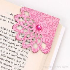 Corner Bookmark Tutorial @ ACherryOnTop.com