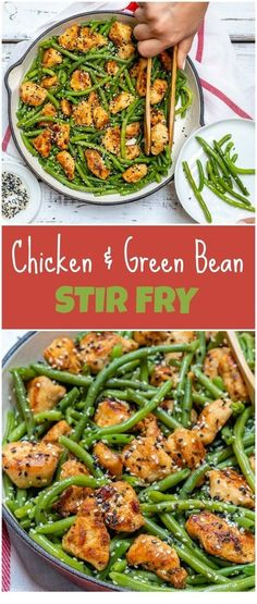 Fast & Simple Chicken and Green Bean Stir Fry for Clean Eating - Clean Food . - Fast & Simple Chicken and Green Bean Stir Fry for Clean Eating – Clean Food Crus… - Clean Eating Grocery List, Clean Eating Chicken, Clean Eating Recipes For Dinner, Clean Recipes, Clean Eating Snacks, Healthy Eating, Healthy Recipes, Eating Fast, Dinner Recipes