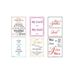 Printable Promise cards, 6 verses per page, Page 3, Digital File, Bible Verse Art, Christian, Calligraphy, Instant download, Typography by LoveLineSigns on Etsy