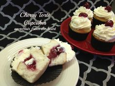 When I made the Cherry Torte for my step-Dad's birthday, I made three layers of cake. I had just enough batter to experiment with six cupcakes. The cake was amazing! You can find it here: Cherry Torte But if you were in a bit of a rush, […] Cake Mix Cupcakes, Baking Cupcakes, Cupcake Cakes, Filled Cupcakes, Baby Cakes, Cup Cakes, Cake Pops, Cherry Desserts, Just Desserts
