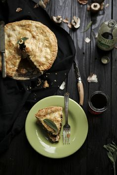 Mushroom & Gorgonzola Pie by julie marie craig, via Flickr