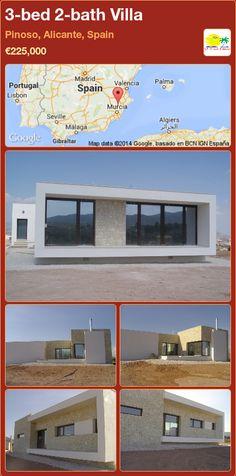 3-bed 2-bath Villa for Sale in Pinoso, Alicante, Spain ►€225,000