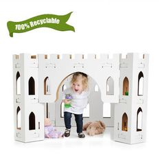 Hours of playfun with this Citadel Eco-Friendly Cardboard Castle