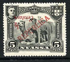 D. Manuel II com sobretaxa de Londres 1/2c s/ 5r (*) Erro Raro