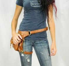 Underground Pack  Brown Thigh Holster Protected Purse by WCCouture, $239.00