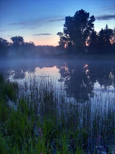 ✮ Fog Lifting off a Pond as the Day Breaks - Ionia, Michigan