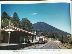 WARBURTON, terminus of the branch line from Lilydale, looking towards Melbourne. South Australia, Western Australia, Melbourne Victoria, Image Sources, Tasmania, Train Station, Model Trains, Old Photos, Rebel