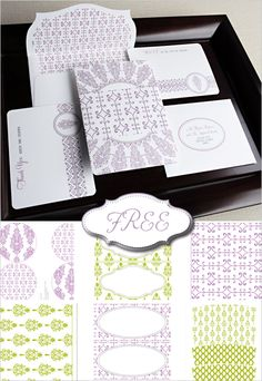 diy invitation suite. Free printable? Pretty in grey