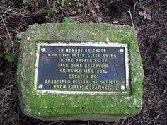 Sheffield Flood Memorial Stone.  GRID: SK 24571 91952 GE: 53.423796 -1.631717