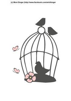 Plotterdatei kostenlos plotter file free plotter freebie plotten dateien kostenlos Silhouette Cameo | Silhouette Portrait Frühling spring Vogelkäfig Vogel birtcage birt
