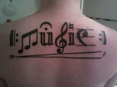 The unique music for the tattoo wearer. #MusicTattooIdeas
