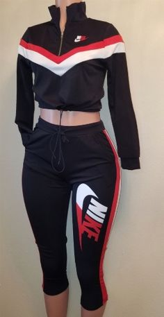 Crop Top Outfits – Page 2629195711 – Lady Dress Designs Cute Nike Outfits, Sporty Outfits, Teen Fashion Outfits, Dope Outfits, Cute Summer Outfits, Girly Outfits, Trendy Outfits, Set Fashion, Crop Top Outfits