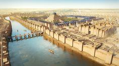 Lámina de Josep R Casals mostrándonos las defensas de Babilonia y su zigurat. http://www.elgrancapitan.org/foro/viewtopic.php?f=87&t=16979&p=884563#p884136