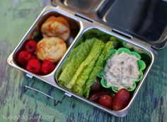 Keeley McGuire: Lunch Made Easy// chicken salad, romaine, carrot/zucchini muffins, fresh fruit