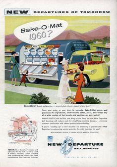 Bake-O-Mat 1960? (Jul, 1956) | A food truck from the future. | Modern Mechanix blog