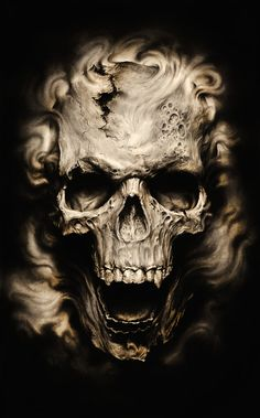 Skulls & Illusion........I DO THINK SOME UN-COUTH SOUL WAS JEALOUS OF HIS WAVY HAIR-DO AND CONKED HIM A GOOD ONE ON HIS CRANIUM..........ccp