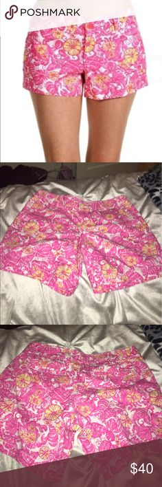Chum Bucket Lilly Pulitzer Shorts Amazing condition size 6 Lilly Pulitzer Chum Bucket Shorts. No pilling and the colors are still vibrant. Sure to be a summer essential- these will look amazing with your favorite sandals! Lilly Pulitzer Shorts