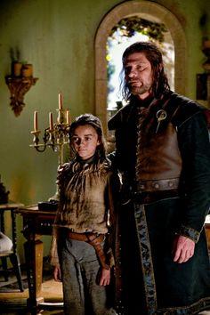Arya and Ned Stark ~ Game of Thrones