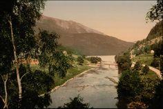 Historiske bilder: Hardanger (Eidfjord, Ulvik og Granvin). Bilde tatt fra Nedre Vassenden mot Granvinsvatnet.
