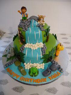 CLASSIC CAKES: Diego Waterfall 2 Tier Cake
