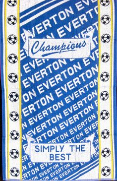 Everton - Football Simply The Best 100% Cotton Blue Sports Terry Bath Towel in Sports Memorabilia, Football Memorabilia, Towels   eBay #football #team #sport #play #exercise #cool #modern #support #teamplayer #fan #footballfan #champions #Everton #EvertonFootballClub #EFC #towel #bath #beach #shower #home