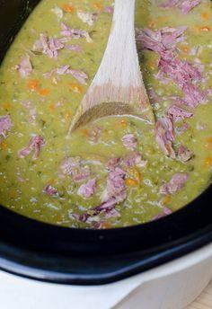 The BEST method to create creamy, delicious split pea soup! ~ https://www.fromvalerieskitchen.com