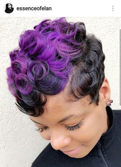 IG: @essenceofelan Houston Hairstylist Short Relaxed Hairstyles, Girls Natural Hairstyles, Black Girls Hairstyles, Cute Hairstyles, Hairstyle Ideas, Pixie Cut Styles, Short Styles, Cool Hair Color, Hair Colors