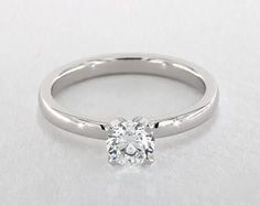 .5ct Round Solitaire Engagement Ring in White Gold - See it in 360 HD SuperZoom!