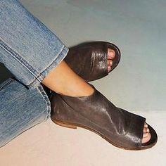 b6e4de44882 Women Peep Toe Sandals Casual Comfort Zipper Shoes Women Oxford Shoes