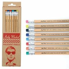 Andy Warhol Philosophy Pencils by Galison