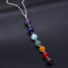 7 Chakra Gem Stone Necklace – Maxi Dress for Less