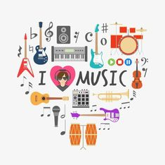 Heart made of musical icons Free Vector Music Drawings, Music Artwork, Music Pics, Music Pictures, Music Videos, Music Music, Kinds Of Music, Music Is Life, Music Clipart