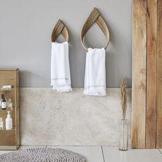 Maison de poupées nues en bois murale étagère de salle de bains avec accessoires /& Porte-serviettes Rose