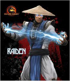 Raiden Skin #MortalKombat Raiden Mortal Kombat, Mortal Combat, Martial Arts, Arcade, Video Games, Happy, Artwork, Movie Posters, Men