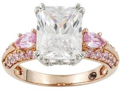 Remy Rotenier For Bella Luce (R) 6.69ctw 18k Rose Gold Over Sterling Silver Radiant In Rose Ring