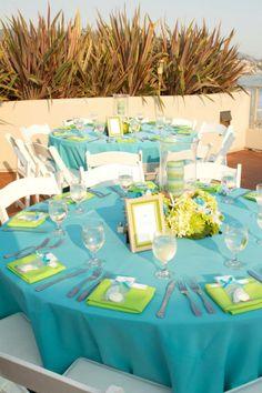 Blue Green Wedding At The Beach